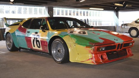 Andy Warhol decorated car