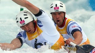 David Florence and Richard Hounslow battle their way to silver in the canoe slalom C2