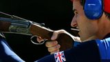 Peter Wilson in action during men's double trap competition