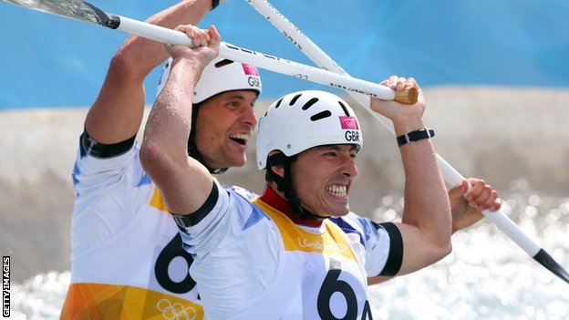 Canoe slalom pair Tim Baillie and Etienne Stott