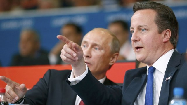 Vladimir Putin and David Cameron
