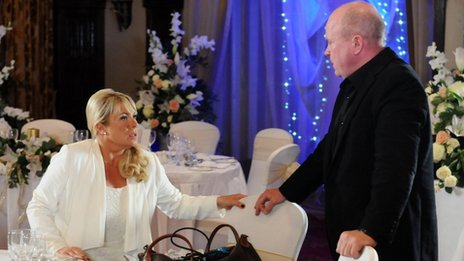 EastEnders characters Sharon and Phil