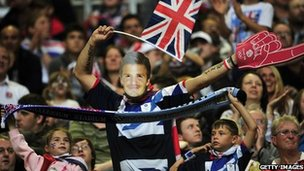 Team GB fans at the Millennium Stadium