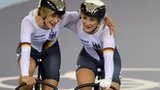 Kristina Vogel and Miriam Welte win gold in women's team sprint.