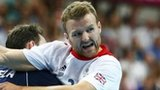 Argentina's Pablo Sebastian Portela challenges Great Britain's Ciaran Williams