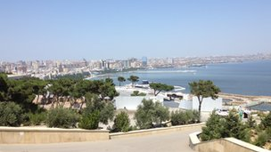 View of Baku, Azerbaijan's capital