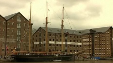 Tall ship in Gloucester Docks