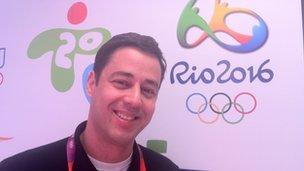 Marcio de Castro, Olympics coordinator for Record TV, Brazil