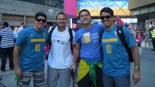 Brazilian fans at the Olympic Park