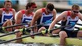 Britain's quadruple sculls team