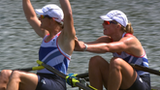 Great Britain's Kath Grainger and Anna Watkins power to a sensational double scull gold at Eton Dorney.
