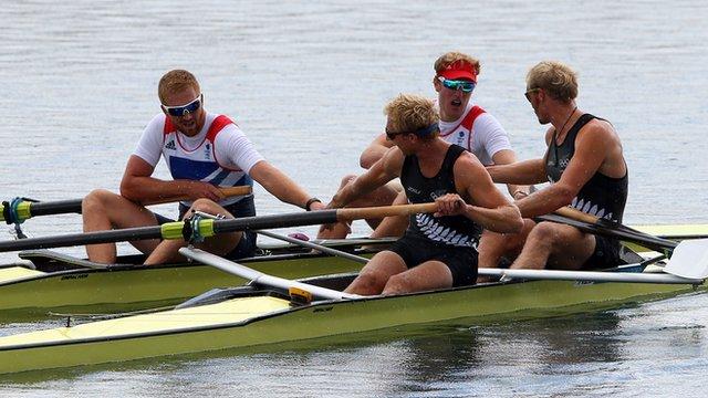 GB men's pair rowing team