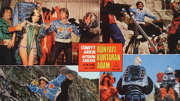 Lobby card for Dunyayi Kurtaran Adam (The Man Who Saves The World)