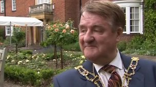 The Lord Mayor of Oxford Alan Armitage