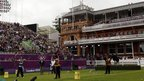 Team GB's Larry Godfrey and Malaysia's Khairul Anuar Mohamad during men's individual archery at Lord's Cricket Ground
