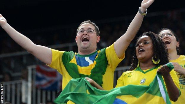 Brazilian fans cheering