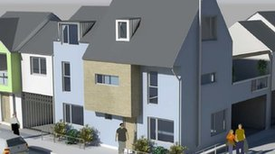 Artist impression of the new houses