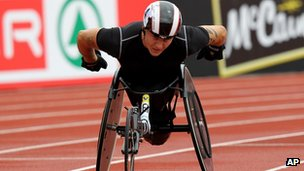 British Paralympian David Weir