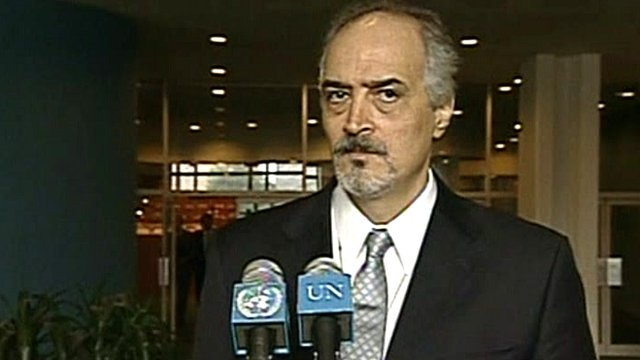 Syria&#039;s UN ambassador Bashar Jaafari