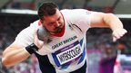 Great Britain's Carl Myerscough competes in the men's shot put