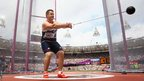 Alexander Smith of Great Britain competes during the men's hammer throw