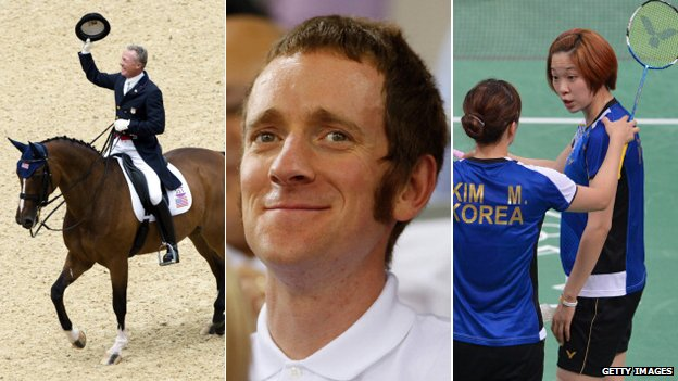 Dressage horse Rafalca, Bradley Wiggins, South Korean women's badminton players