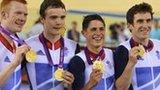 Britain's team pursuit quartet