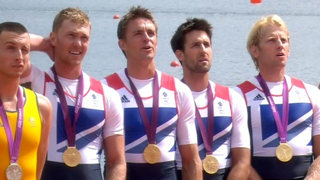 GB men's four Alex Gregory, Pete Reed, Tom James and Andy Triggs Hodge