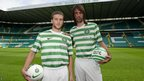 Celtic players Adam Matthews and Georgios Samaras