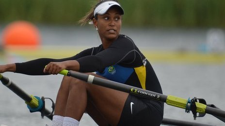 Braziilan rower Kissya Cataldo da Costa