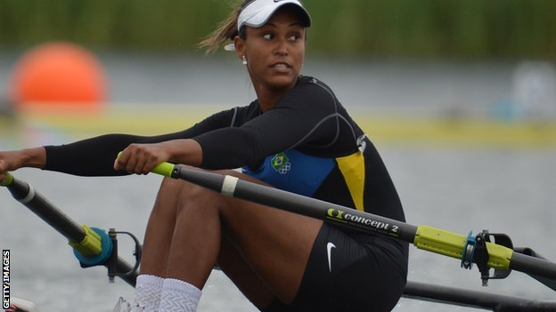 Brazilian rower Kissya Cataldo da Costa
