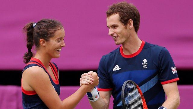 BBC Sport - Andy Murray and Laura Robson reach Olympics ...