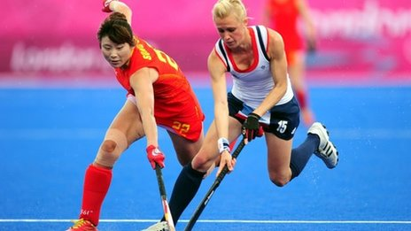 Great Britain's Alex Danson and China's Song Qingling
