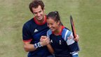 Andy Murran and Laura Robson celebrate winning semi final against Germany