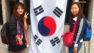 Lee Namkyung and Cho Sunghee from South Korea were hoping for victory against Team GB