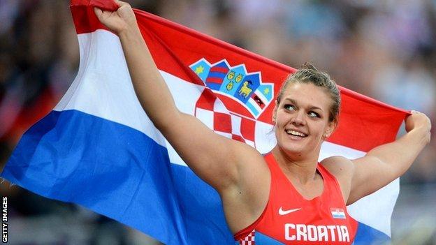 Сандра Перкович победила в метании диска на финальном этапе Бриллиантовой лиги в Брюсселе