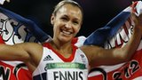 Jessica Ennis celebrates her Olympic title