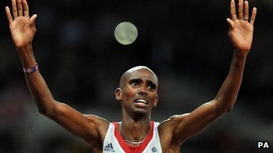 Mo Farah GB runner