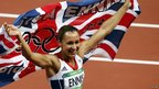 Jessica Ennis celebrates