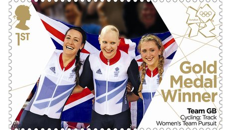 The women's team pursuit gold medal winners