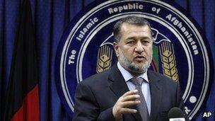 Interior Minister Besmullah Mohammadi