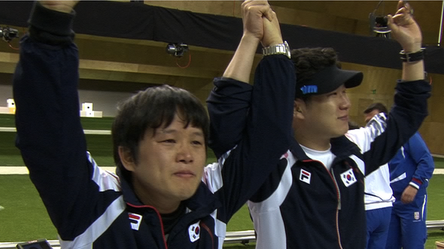 South Korea take gold and silver in 50m pistol final