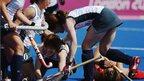 Japan's women's hockey captain Yamamoto Yukari