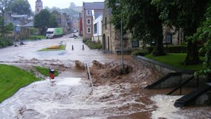 Flooding in Jedburgh