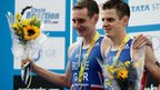 Great Britain's traithlete Alistair and Jonathan Brownlee
