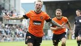 Johnny Russell celebrates for Dundee Utd