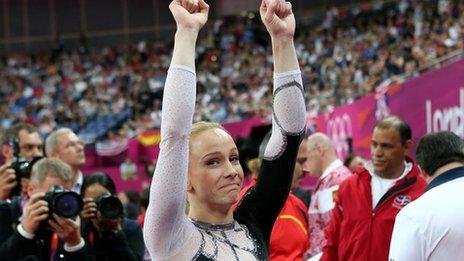 Romanian's Sandra Raluca Izbasa wins women's vault