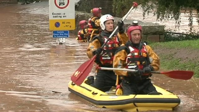 Flood rescue teams