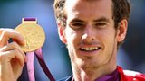 Andy Murray with his Olympic gold medal