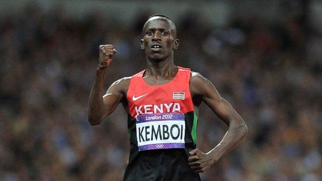 Ezekiel Kemboi wins 3,000m steeplechase